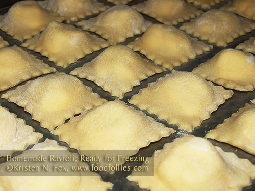 Homemade Ravioli ©Kristen N. Fox, www.foodfollies.com