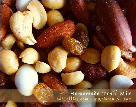 homemade trail mix - foodfollies.com