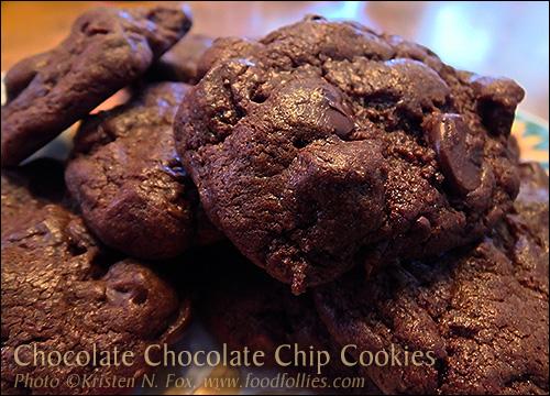 Chocolate Chocolate Chip Cookies - photo © Kristen N. Fox