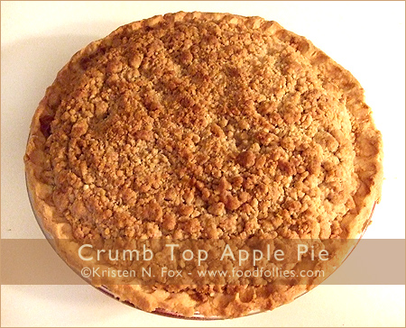 Crumb Top Apple Pie by FoodFollies.com